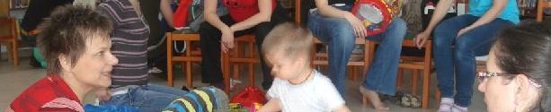 Béres Erika a kaposvári baba-mama klubban