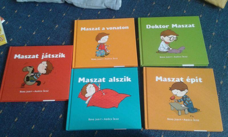 Maszat könyvek: Maszat játszik, maszat a vonaton, Dr. Maszat, Maszat épít