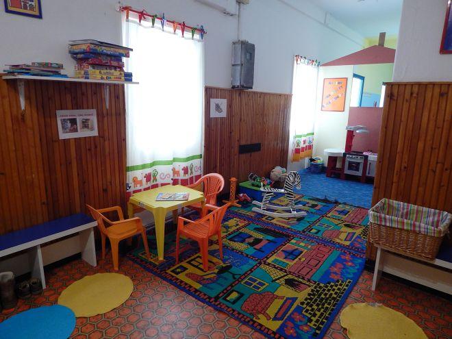 Az 50 négyzetméteres játszóközpont egyik játszósarka bölcsis és ovis gyerekeknek.